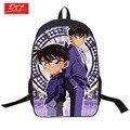 Detective Conan Anime Impresión Bolsas de Hombro Joven Hombres Laptop Mochilas Niños Mochilas Para Adolescentes Niños Niñas Bolso de Escuela