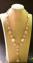 XlentAg Handmade Fresh Water Pearl For Women Party Wedding Long Necklace Jewelry Custom Sweater Necklace GN0085 цена и фото