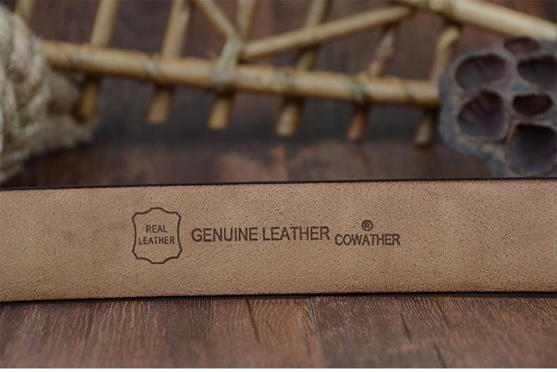 COWATHER asli pria kulit sapi laki-laki tali pin gesper flashion - Aksesori pakaian - Foto 5