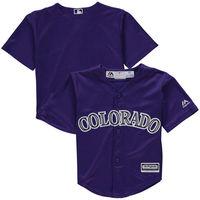 MLB Toddler Colorado Rockies Baseball Purple Alternate Official Cool Base Team Jersey