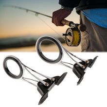 Guide Ring Fishing Rod Pole Line Guides Top Rings Folding Stainless Steel Telescopic DIY Eye Ring Repair Kit Tackle Accessories new 80pcs fishing rod guide guides tip set repair kit diy eye rings different size stainless steel frames with plastic fish box
