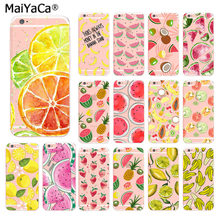 MaiYaCa DIY Pintado Fruit Morango Melancia Limão Banana phone Case para iphone 11 pro8 7 66S Plus X 10 5S SE MAX XR XS XS(China)