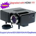 Домашних развлечений самая низкая стоимость из светодиодов мини-проектором tft-hdmi USB VGA SD аудио видео Projecteurs Projetor 320 x 240 с беспроводной пульт дистанционного