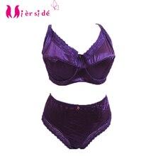 Mierside TZ14006 women bra set push up bra full cup sexy lingerie 3 color plus size underwear brief set high quality 36-46C D DD