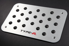 Aluminum Alloy Carpet Pedal Pad Non-slip For TYPE R Floor Mat For Racing Car