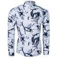 2017 Caliente Ocasional Camisa Camisa de Vestir Para Hombre Slim Fit Camisas de Manga Larga Camisas de Los Hombres Solo Breastd