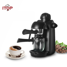 ITOP 5 Bar Household Semi-automatic Espresso Coffee Maker Italian Machine Electric Milk Foam Cappuccino 220V