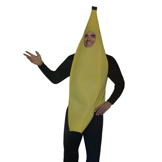 2017free shipping Men Cosplay Adult Fancy Dress Funny sexy Banana Costume  novelty halloween Christmas carnival party