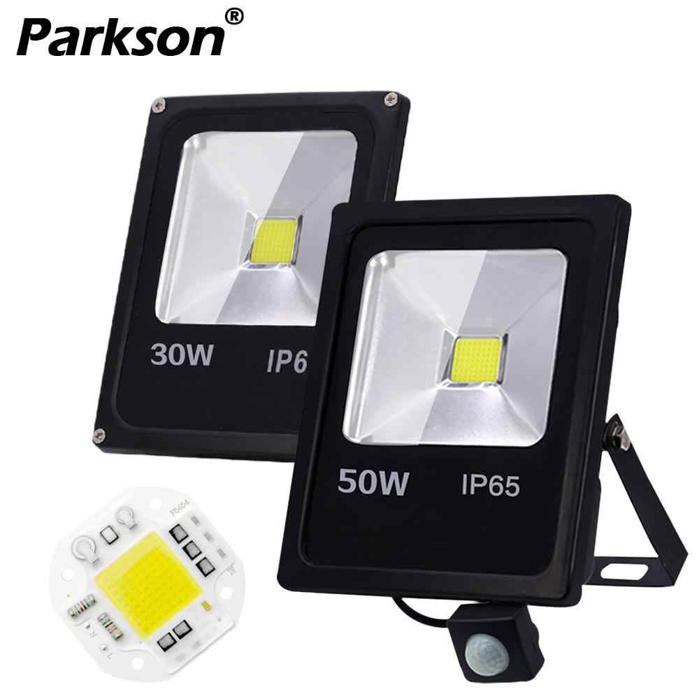 Motion Sensor LED Flood Light 10W 30W 50W Outdoor LED Spotlight Floodlight AC 220V 240V IP65 Waterproof Projector Lighting Lamp
