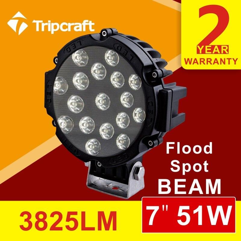 ФОТО Free shipping!!!2pcs 6inch 51W LED Work Light Lamp Fit led ramp car accessories Off Road 4WD 4x4 Truck SUV ATV 10V 30V fog light