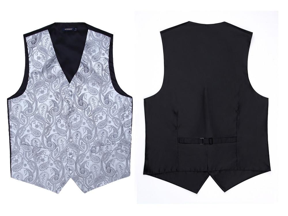 Men's Classic Paisley Jacquard Waistcoat Vest Handkerchief Party wedding Tie vest Suit  Pocket Square Set 4