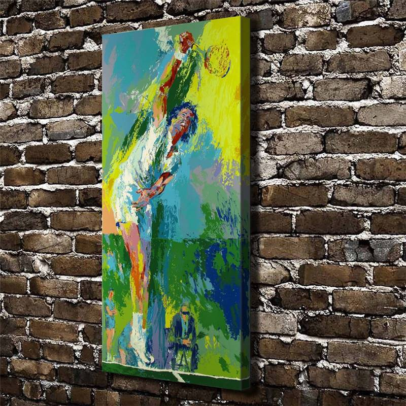Leroy Neiman Abstract Tennis Match Athletes Figure,Hd Canvas Print Home Decoration Living Room Wall Pictures Art Painting drop