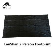 3F UL GEAR LanShan 2 Tent voetafdruk 2 originele silnylon voetafdruk 210*110 cm hoge kwaliteit grondzeil