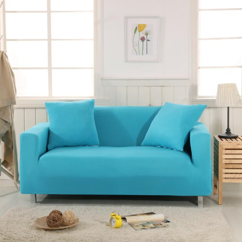 Incredible Sky Blue Solid Simple Stretch Sofa Protector Cover For Dailytribune Chair Design For Home Dailytribuneorg