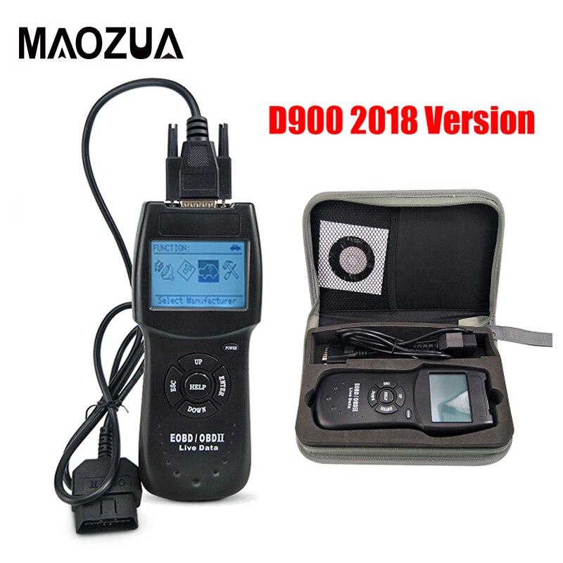 2018 Version Universal D900 OBD2 Scanner Car's Engine D900 OBD OBD II Code Reader Diagnostic Tool For Multi-Cars