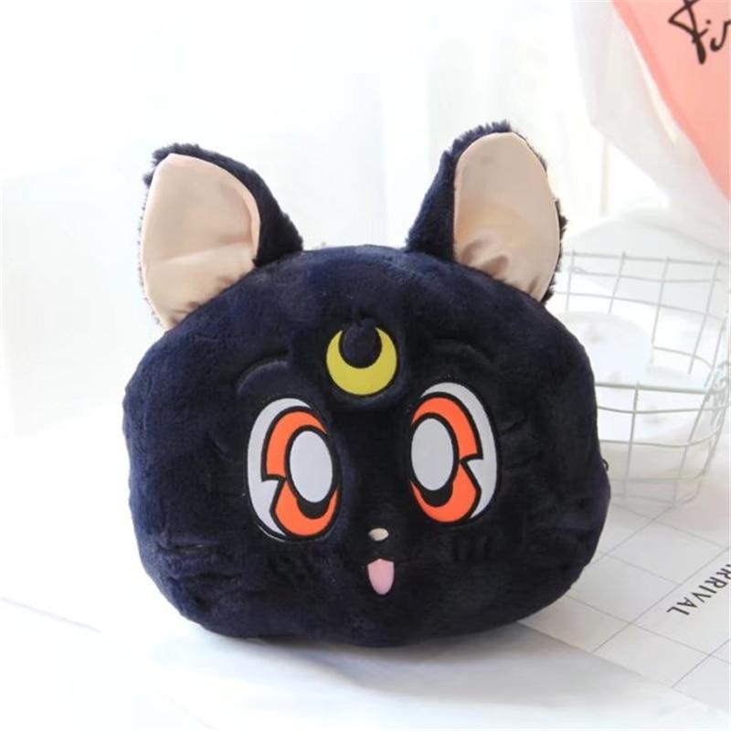 Luna marin lune luna chat peluche peluche kawaii oreiller couverture mignon peluches petite amie cadeau d'anniversaire saint valentin cadeau