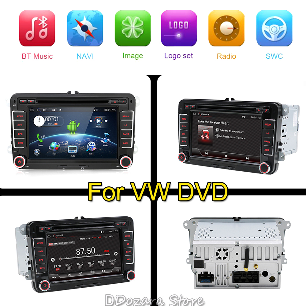 Quad Core Android 7.1 2Din 7 Inch Car DVD Player for VW GOLF 5 6 POLO PASSAT CC JETTA TIGUAN TOURAN EOS SHARAN SCIROCCO CADDY joying px5 octa 8 core 2gb ram android 8 0 car radio player for vw golf 5 6 polo passat jetta tiguan touran eos gps navigation