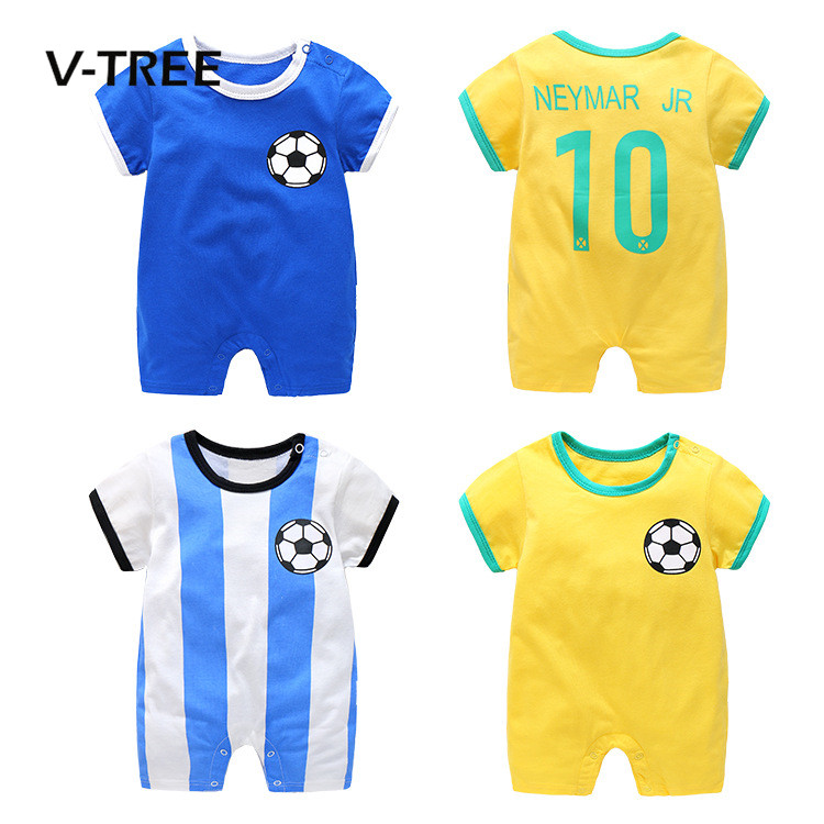 V-TREE Summer 2017 New Baby Boys Romper Brand Newborn Baby Rompers Boy Clothes Jumpsuit Costumes Sleepsuit Infantil Clothing newborn baby rompers baby clothing 100% cotton infant jumpsuit ropa bebe long sleeve girl boys rompers costumes baby romper