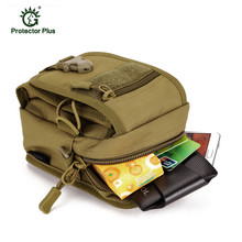 Military Tactical Nylon Waterproof Molle Pouch Running Package Camouflage Climbing Travel Hiking Bags For 5.5 inch Mobile Phone
