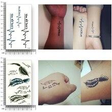 12 Sheets Fake Temporary Tattoo Water Transfer butterfly feather Wing diamond Stickers Women Men Beauty Glitter Sexy Body Art