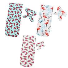 2 шт. Детские Цветочные хлопковые пеленки пеленать одеяло для сна мешок хлопчатобумажное одеяльце