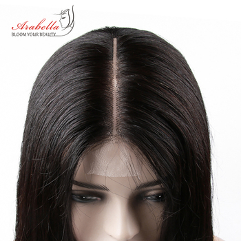 2×6 Kim K Brazilian Straight Hair Lace Closure Pre Plucked Bleached Knots Kim K Middle Part With Baby Hair Remy Closure Arabella