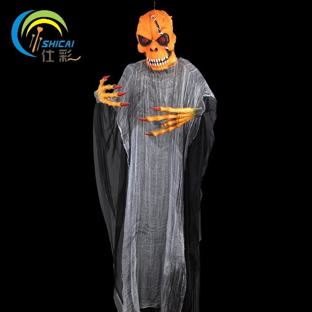 hanging devil ghost skull skeleton halloween decoration for party bar house huge 19m haunted house