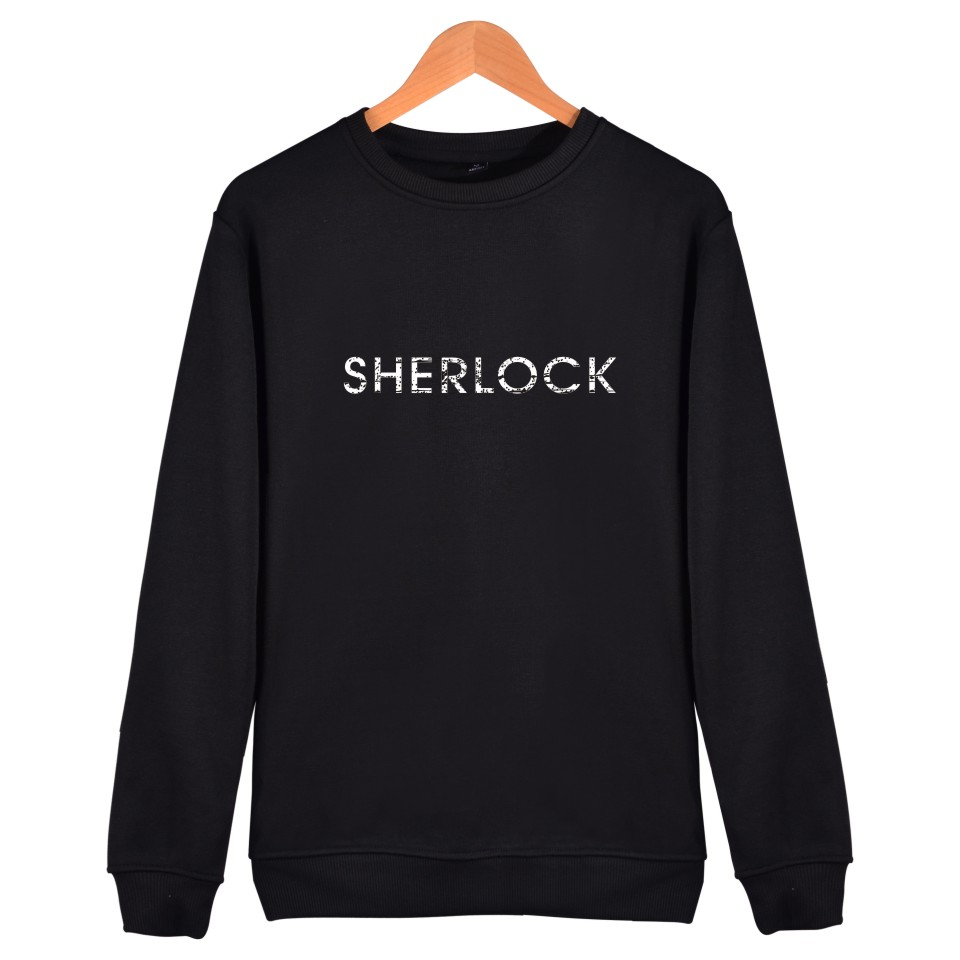 Fashion Capless Mens Hoodies And Sweatshirts Set Sherlock Holmes Popular American Drama Winter Hoodies Men Casual Black Clothes