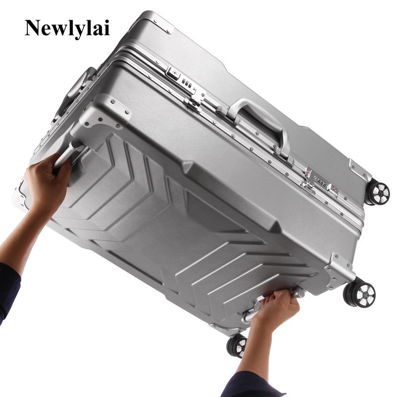 Newlylai Aluminum frame universal wheel rolling suitcase luggage suitcase 20-inch boarding box 24/29 inch check box JJ170096