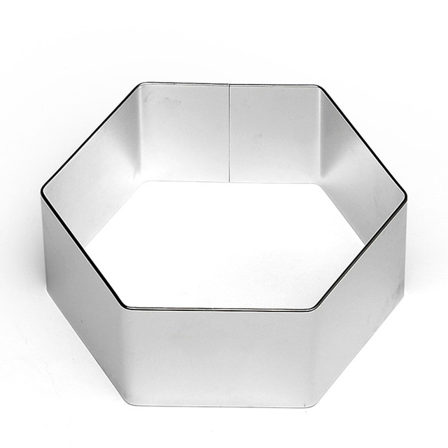 Stainless steel hexagon cookie biscuit cutter