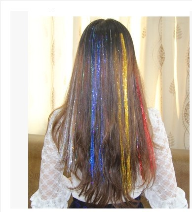 1pcs Clip In Shinny Hair Decoration Hair Clips Woman Glitter Twinkle Dazzle Tinsel Festival