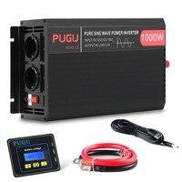 Pure Sine Wave Power Inverter 1000W 2000W Automobile Inverter 12V To 230V Car Power Converter Voltage Transformer EU Socket
