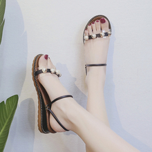 Fashion Women Sandals Summer Shoes for Woman Beach Shoes Clear Sandals Open Toe Flat Sandals with Transparent Shoes Women Pearl xiuteng summer flat with shoes woman genuine leather soft outsole open toe sandals flat women shoes 2018 fashion women sandals