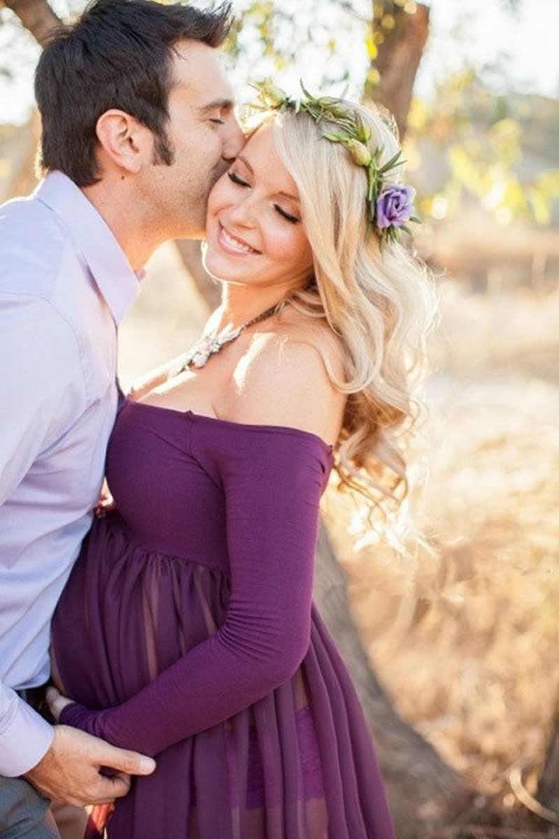 Gebelik Elbise Fotoğraf Sahne Fotoğraf Çekimi Için Elbiseler Maxi cüppeli elbiseler hamile kıyafetleri Hamile Kadın Premama Için Vestido