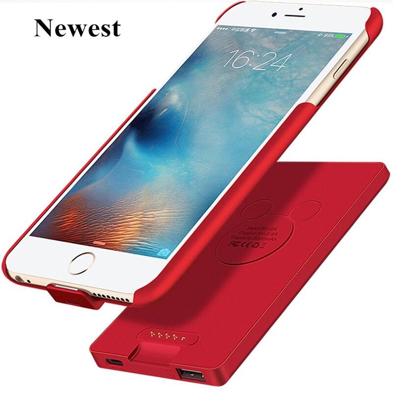 Per iphone 6 s cassa di Batteria Più Nuovo Caricatore Intelligente 2A Uscita Magnete Adsorpt Caso della Banca di Potere Per il iphone 6 6 s 7 Cassa di Batteria