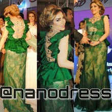 Glamorous Green Mermaid Dress Jewel Sleeveless Appluqed Beaded Lace Evening Gowns Formal Dresses 2015 Robe De Soiree