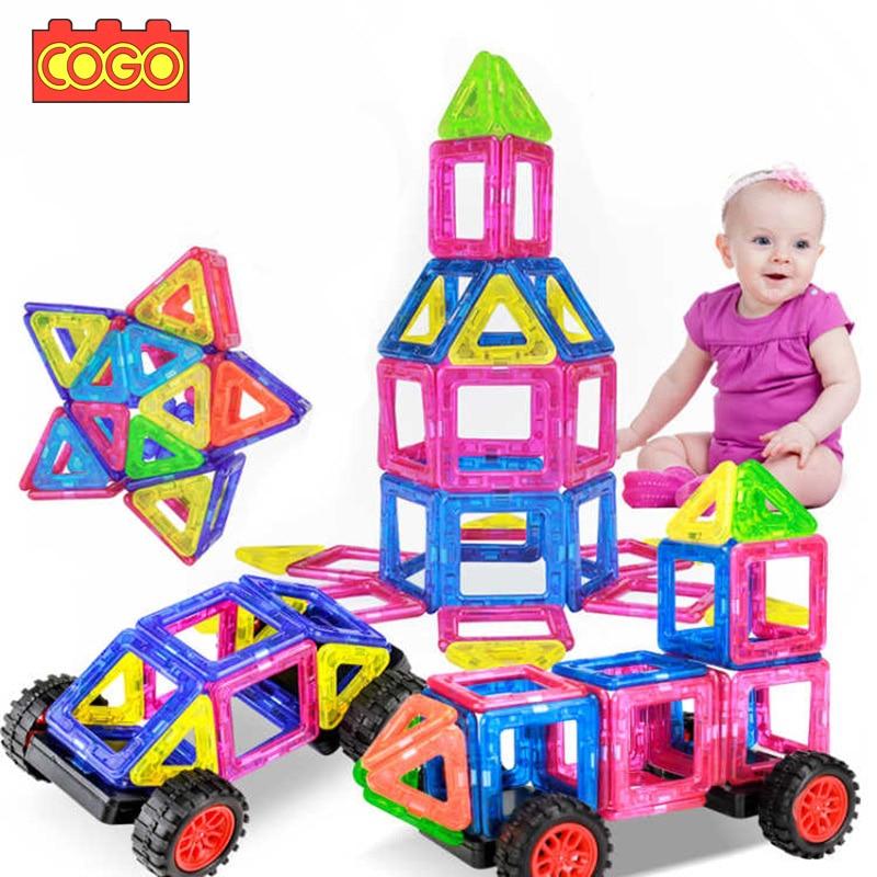 cogo 38 pcs mini magnetic designer blocks educa