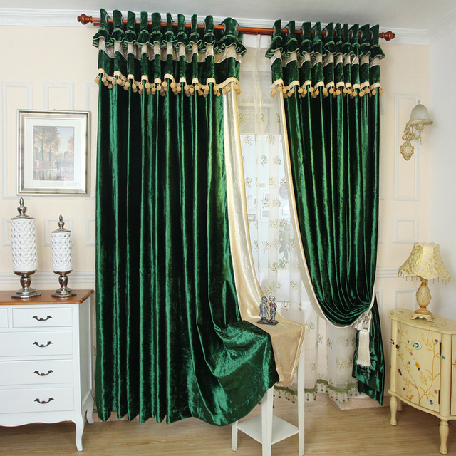 New Contracted Curtain Modern Luxury High Grade Pure Color