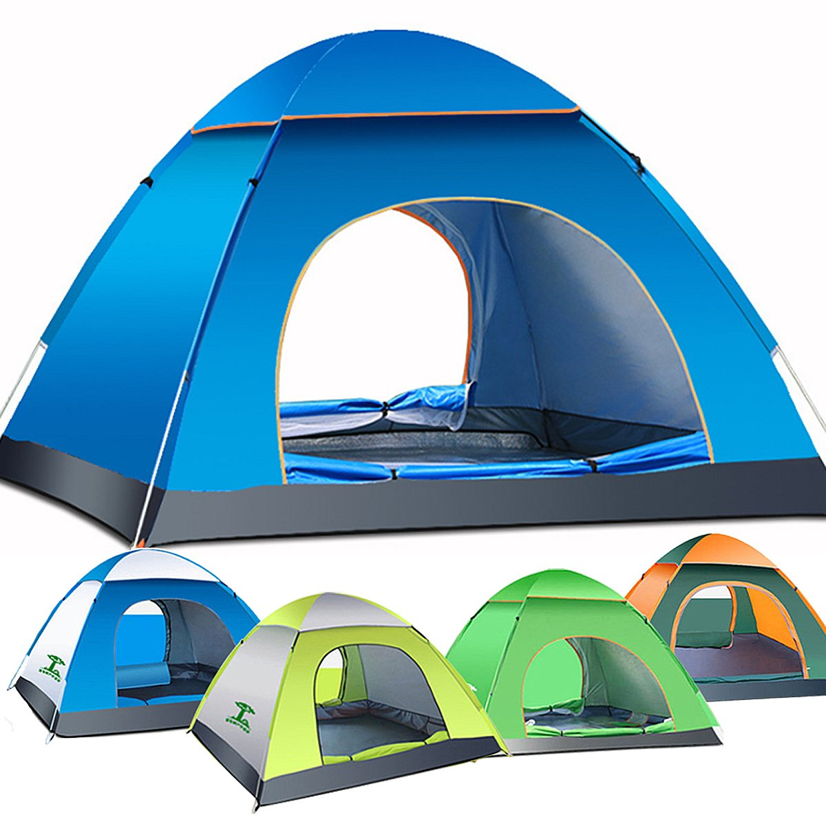 1pcs 3 4 Person Automatic Quick Opening Tent Outdoor Camping Tent 170T fulmargin cloth pole fiberglass