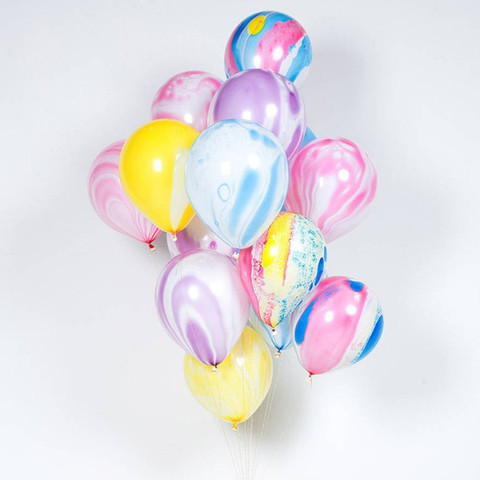 10pcs Wedding Decoration balloons Agate Marble Balloon Colorful Latex for Baby Shower Birthday Party Decorations kids toys Multan
