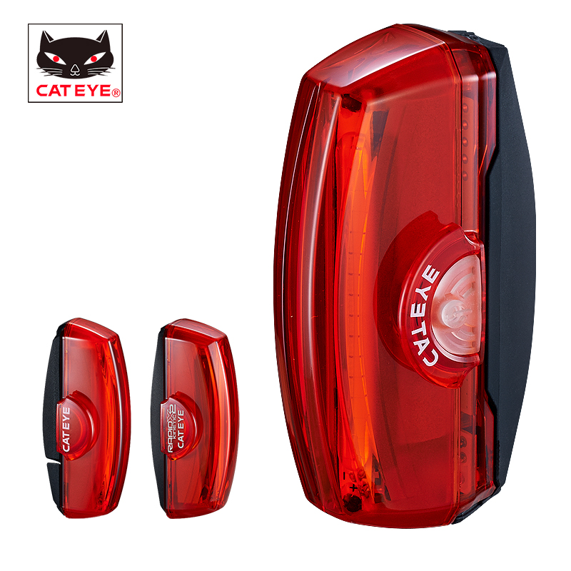 CATEYE Bike Light Bicycle Safety Rear Light Waterproof USB Rechargeable Seatpost Rear Fork Light Cycling Accessories Rapid XCATEYE Bike Light Bicycle Safety Rear Light Waterproof USB Rechargeable Seatpost Rear Fork Light Cycling Accessories Rapid X