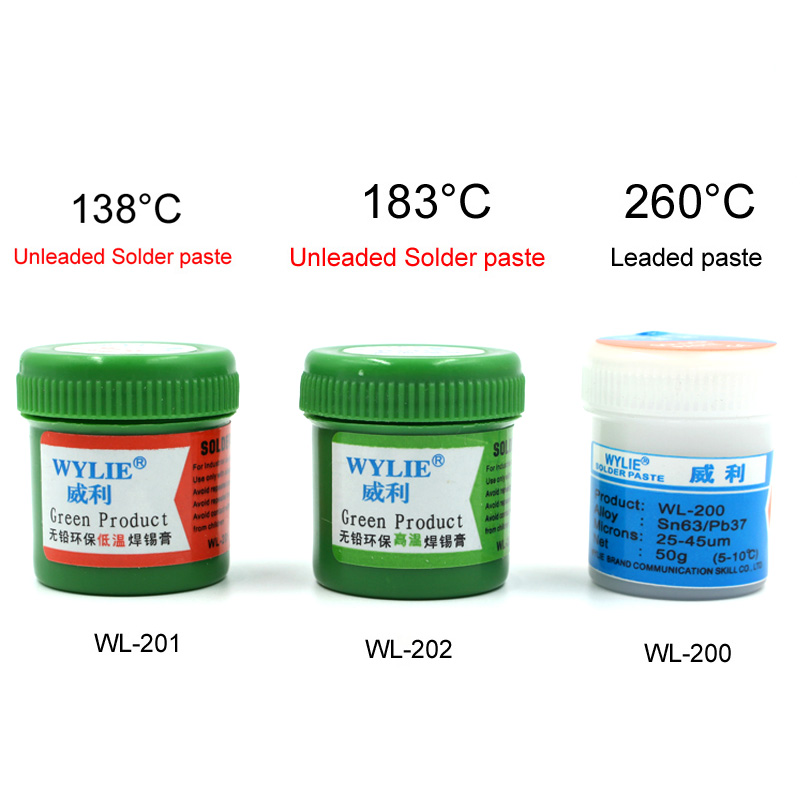 WYLIE Lead-free Solder Paste For Iphone Mobile Phone Planting Tin Low Temperature 138 Degrees Tin Planting Solder Repair
