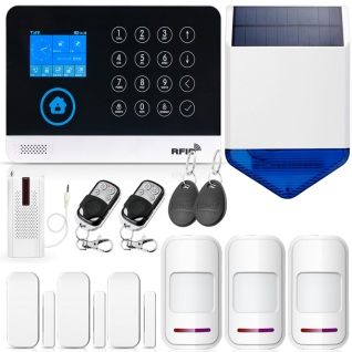 WG11 2 4 Inch TFT Screen WIFI GSM Wireless Home Security Alarm System Motion Detector APP