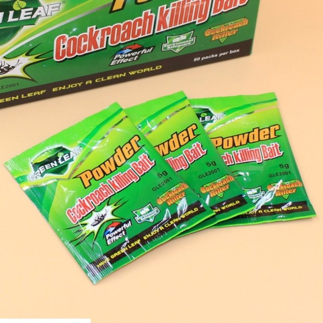 10Packs Green Leaf Powder Cockroach Killing Bait Insecticide Repellent Russian Cockroaches Killer Repeller Trap Pest control