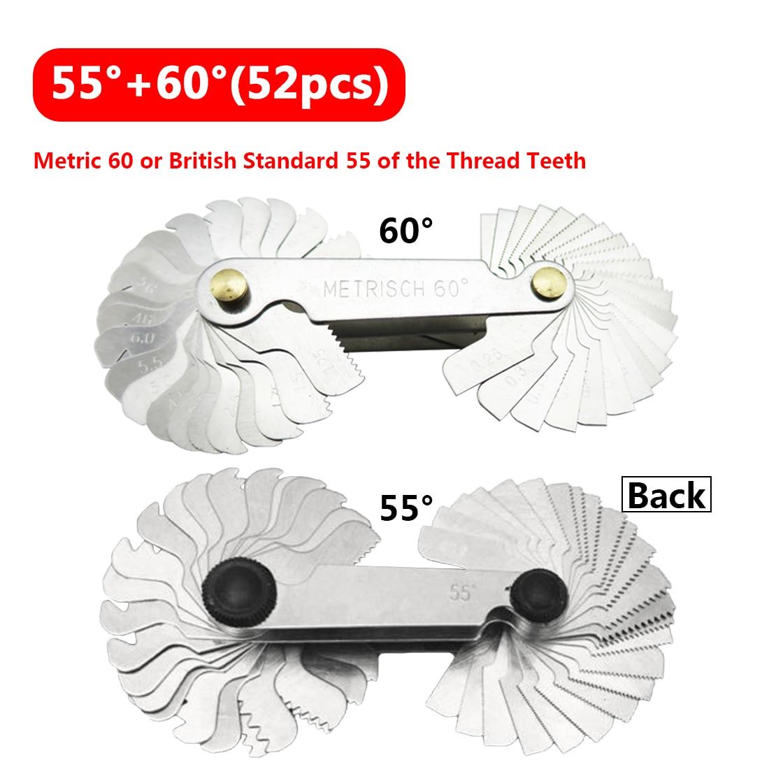 Silver 60 Degree Gauge Thread Plug Gage Measuring Tools Metric Screw Pitch