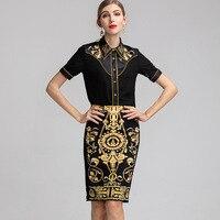 4F74j265 новые модные дизайнерские Элитный бренд 2019 сезон: весна лето для женщин милый ретро итальянский модный комплект