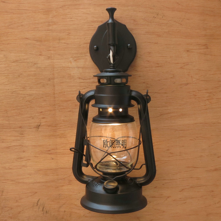 Wall Mounted Kerosene Lanterns : Special shipping Continental Iron wall lamp living room bedroom hallway retro antique kerosene ...