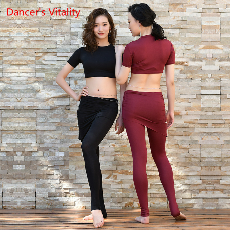 2019 New Sexy Belly Dance Belly Dance Set Short Top Belly Dance Pants Clothes For Woman