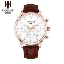 Najlepsze marki holuns mężczyzna zegarka wodoodporna business casual męskie sportowe zegarki luksusowe zegarki kwarcowe zegary relogio masculino