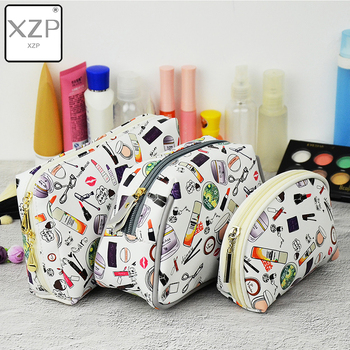 XZP Waterproof Cosmetic Bag Modern Girl PU Creative Print Makeup Case Fashion Multifunction Travel Pouch Multicolor Beauty Bag